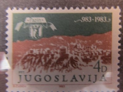 1000 de ani Pazin , Yugoslavia , 1983 , nestampilat
