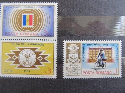 15 noiembrie ziua marcii postale romanesti , serie , 1983 , nestampilata