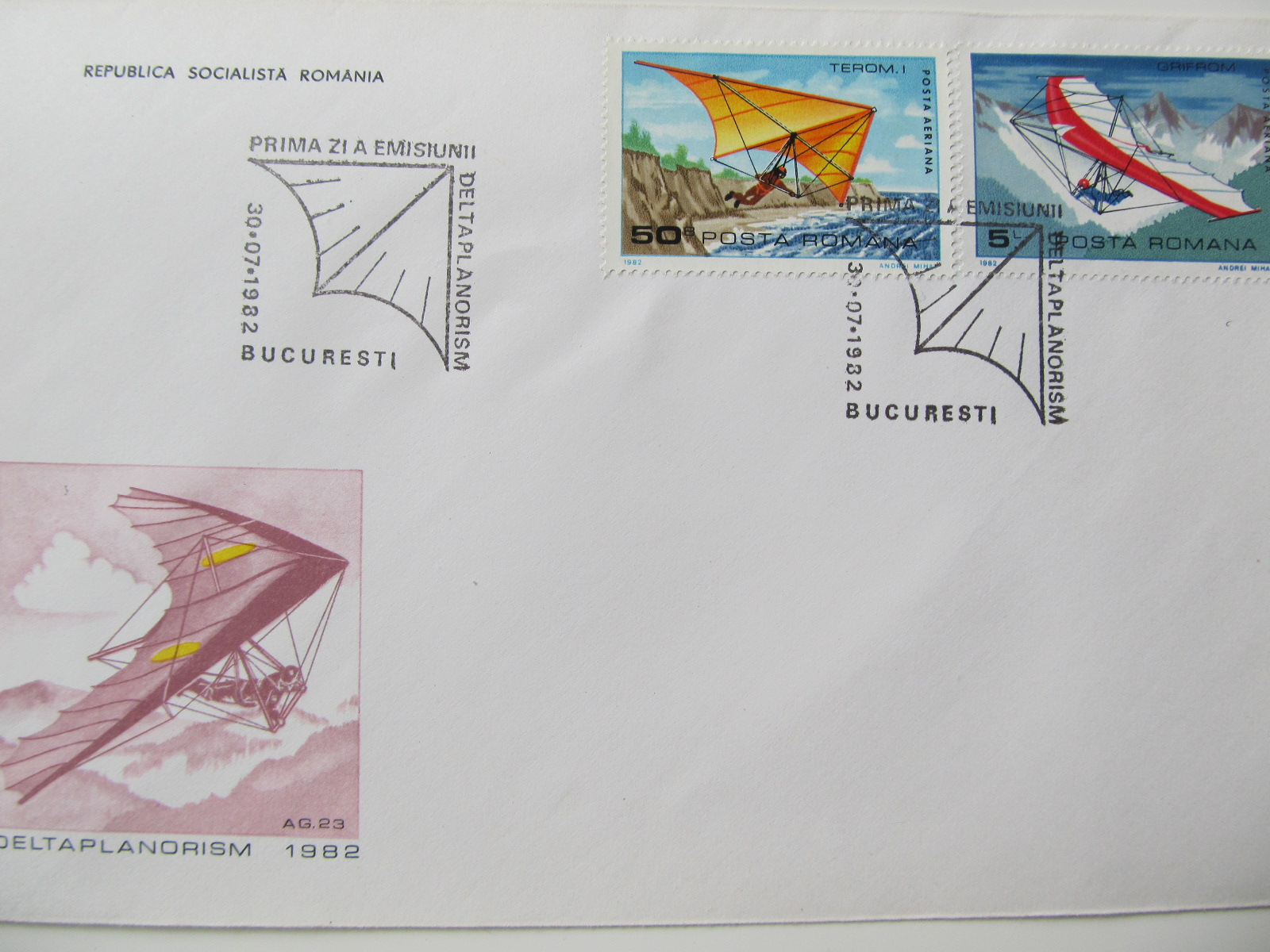 3 FDC , Deltaplanorism , 1982
