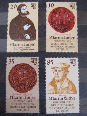 500 de ani de la nasterea lui Martin Luther , serie DDR , 1983 , nestampilata