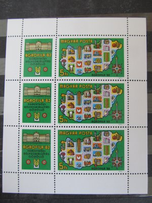 Agrofila , bloc , 1982 , nestampilat