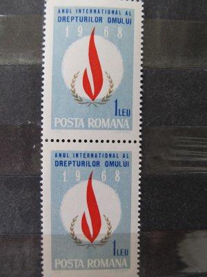 Anul international al drepturilor omului , serie , 1968 , nestampilata