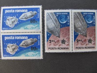 Apollo 9 si 10 , serie , 1969 , nestampilata
