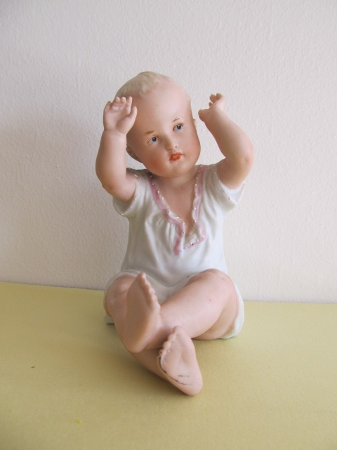 Bibelou din ceramica , copil , vintage (8)