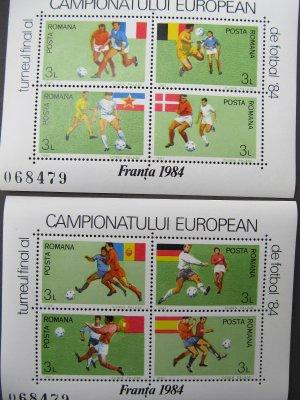 Campionatul European de fotbal Franta '84 , colite ,1984 , nestampilate