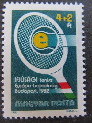 Campionatul European de tenis , serie , 1982 , nestampilata