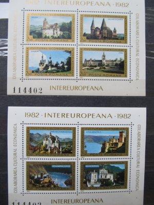 Colaborarea cultural economica intereuropeana , blocuri , 1982 , nestampilate (disp. 2 ex.)