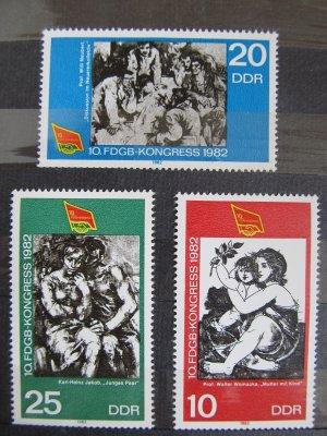 Congresul FDGB , serie DDR , 1982 , nestampilata