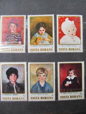 Copii in pictura romaneasca , serie , 1984 , nestampilata (disp. 6 ex.)