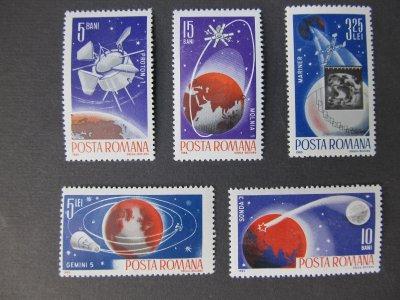 Cosmonautica II , serie , 1965 , nestampilata