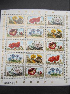Flora si fauna din rezervatiile naturale din Europa , blocuri numerotate , 1983 , nestampilate