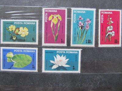 Flori din Delta Dunarii , serie , 1984 , nestampilata (disp. 6 ex.)