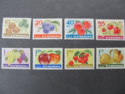 Fructe izvor de sanatate , serie , 1963 , nestampilate