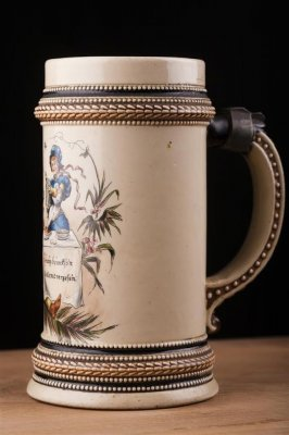 Halba de bere , din ceramica , 0,5 l