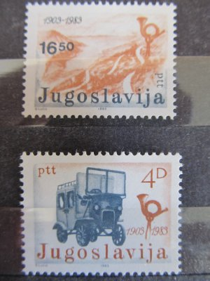 Istoria postei , serie Yugoslavia , 1983 , nestampilata