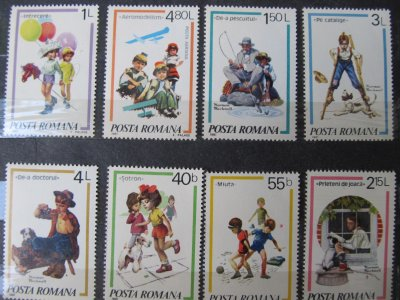 Jocuri de copii , serie , 1981 , nestampilata