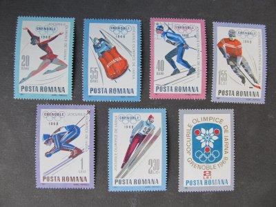 Jocurile olimpice de iarna Grenoble , serie , 1967 , nestampilata