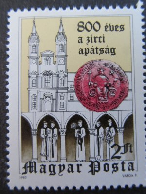 Manastirea Zirc , serie , 1982 , nestampilata