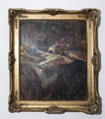 Natura moarta (3) , semnat , 1925