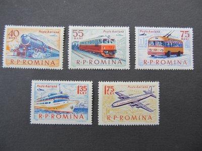 Posta aeriana comunicatii , serie , 1963 , nestampilata