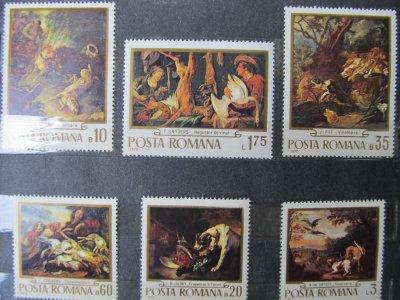 Reproduceri de arta - Vanatoarea , serie , 1970 , nestampilata