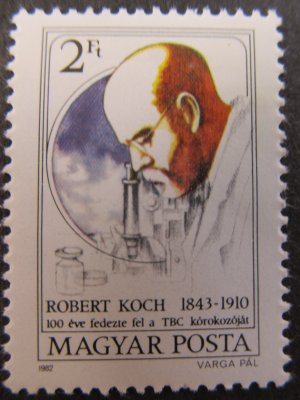 Robert Koch , serie , 1982 , nestampilata