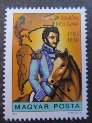 Simon Bolivar , serie , 1983 , nestampilata