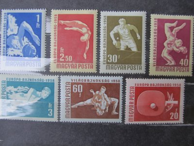 Sporturi , serie , 1958 , nestampilata