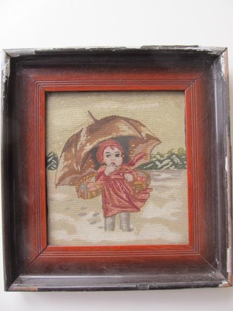 Tablou goblen , Fetita cu umbrela
